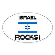 Israel Rocks! Oval Decal