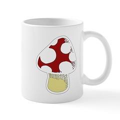 Funky Cartoon Mushroom Mug
