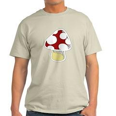 Funky Cartoon Mushroom Light T-Shirt