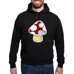 Funky Cartoon Mushroom Hoodie (dark)