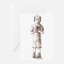Nelia Alone Greeting Cards (Pk of 10)