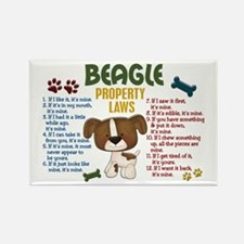 Beagle Property Laws 4 Rectangle Magnet