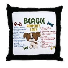 Beagle Property Laws 4 Throw Pillow