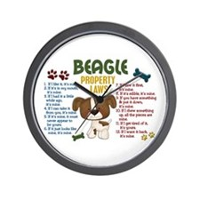 Beagle Property Laws 4 Wall Clock