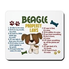 Beagle Property Laws 4 Mousepad