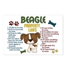 Beagle Property Laws 4 Postcards (Package of 8)