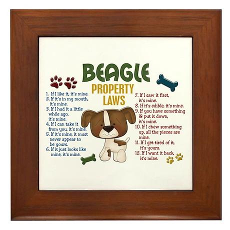 Beagle Property Laws 4 Framed Tile