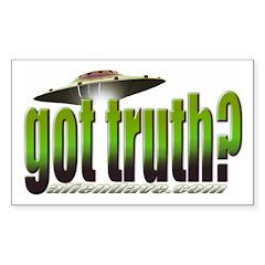 got truth? green Rectangle Sticker