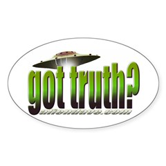 got truth? green Oval Decal