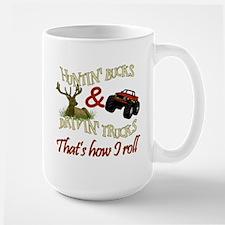 Drivin' Trucks & Huntin' Bucks Large Mug