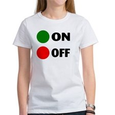 On Off Button Tee