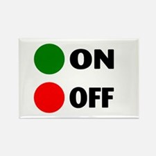 On Off Button Rectangle Magnet