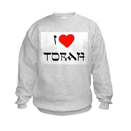 I Heart Torah Kids Sweatshirt