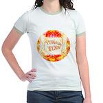 Torah Rocks Orange Jr. Ringer T-Shirt