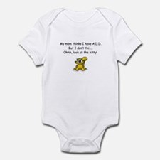 """""""Look at the Kitty"""" A.D.D. Humor Infant Bodysuit"""