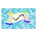 I Love Torah Rectangle Sticker