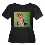 Yorkie Women's Plus Size Scoop Neck Dark T-Shirt