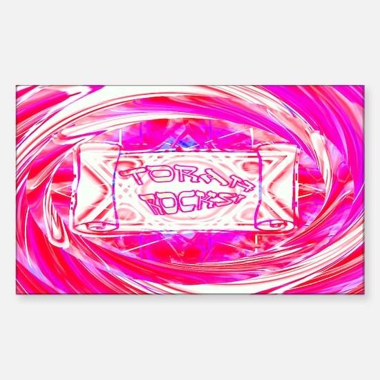 Torah Rocks (Pink) Rectangle Decal