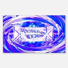 Torah Rocks (Metallic Blue) Rectangle Decal