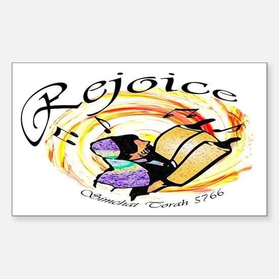 Rejoice Simchat Torah 5766 Rectangle Decal