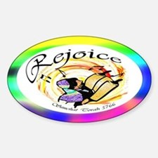 Rejoice Simchat Torah 5766 Oval Decal