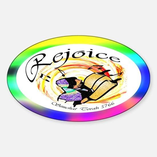 Rejoice Simchat Torah 5766 Oval Decal