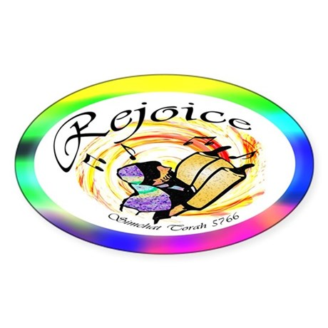 Rejoice Simchat Torah 5766 Oval Sticker
