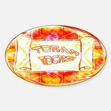 Torah Rocks (Orange) Oval Decal