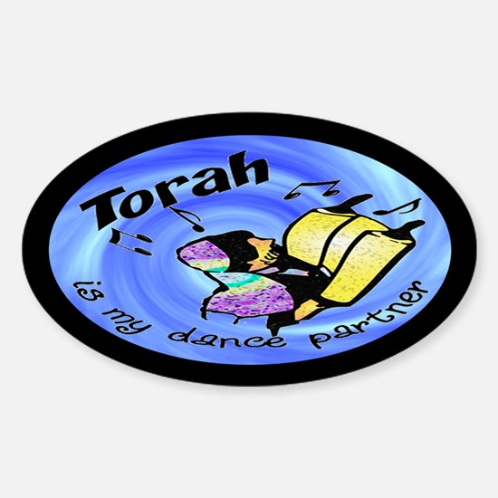 Torah is My Dance Partner Oval Decal