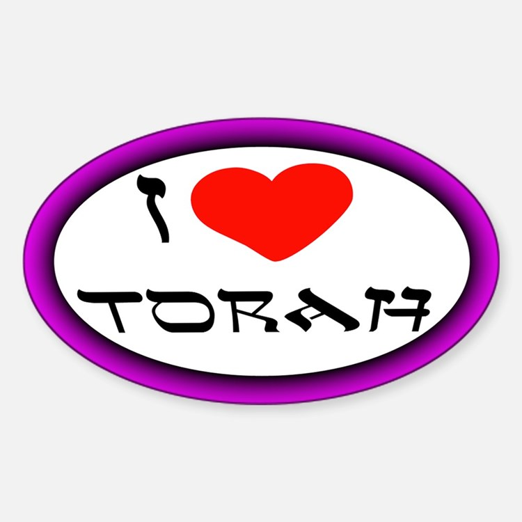 I Heart Torah Oval Decal