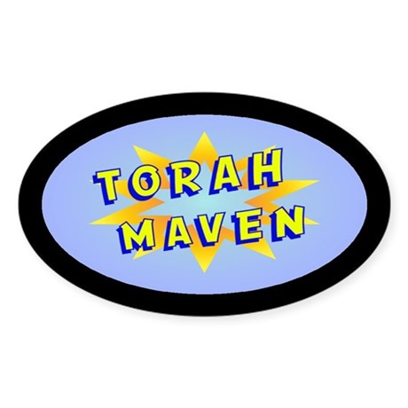 Torah Maven Oval Sticker