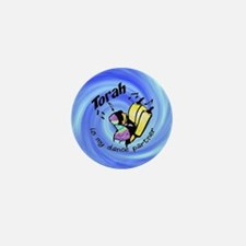 Torah is My Dance Partner Mini Button