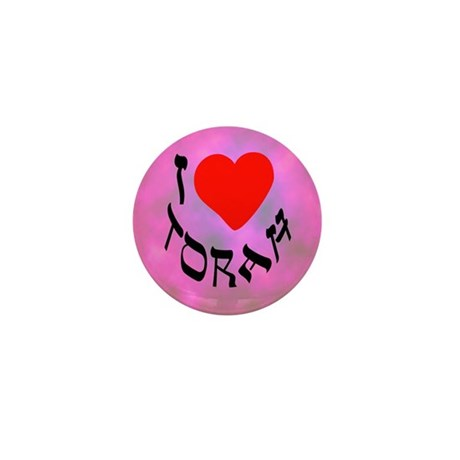 I Heart Torah Mini Button