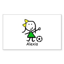 Soccer - Alexis Rectangle Decal