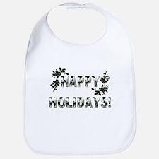 Holly Berries - Happy Holidays! Bib