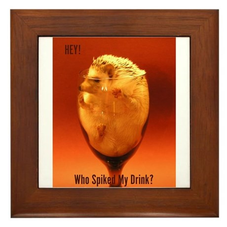 Spiked Drink! Framed Tile
