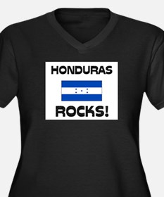 Honduras Rocks! Women's Plus Size V-Neck Dark T-Sh