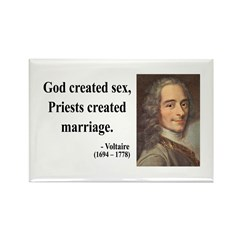 Voltaire 16 Rectangle Magnet (10 pack)