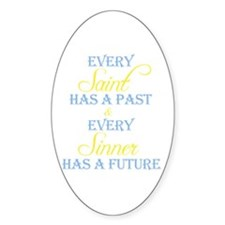Saints and Sinners Oval Decal