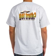 got truth? orange Ash Grey T-Shirt