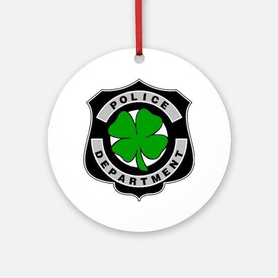 Irish Police Officers Ornament (Round)