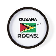 Guyana Rocks! Wall Clock