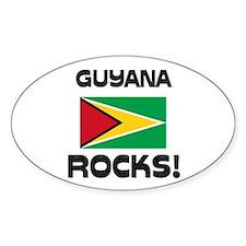 Guyana Rocks! Oval Decal