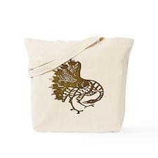 Distressed Tribal Peacock Tote Bag