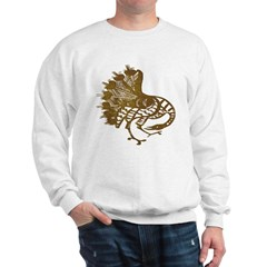 Distressed Tribal Peacock Sweatshirt