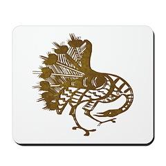 Distressed Tribal Peacock Mousepad