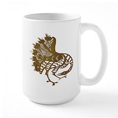 Distressed Tribal Peacock Mug