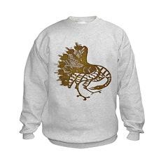 Distressed Tribal Peacock Sweatshirt