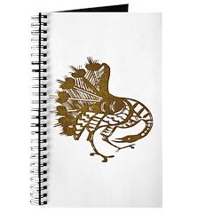 Distressed Tribal Peacock Journal