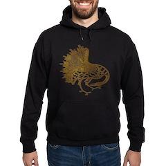 Distressed Tribal Peacock Hoodie